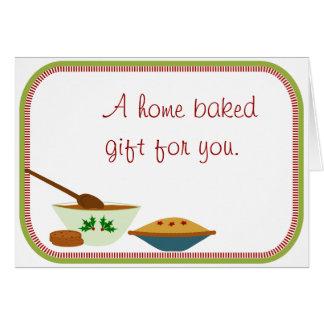 Carte de note cuite au four par maison