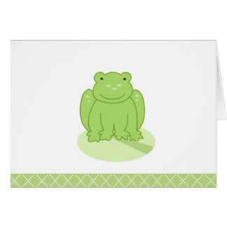 Carte de note customisée par grenouille verte de s