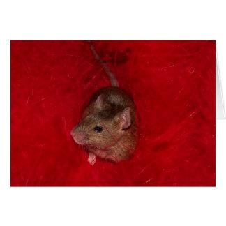 Carte de note d'Austin de souris