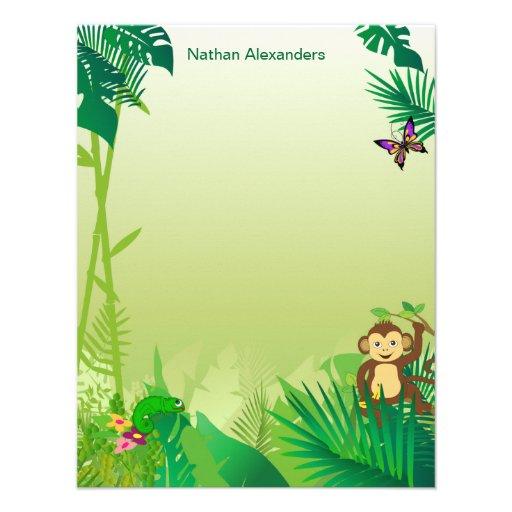 Carte de note de forêt tropicale de Rockin Invitations Personnalisées