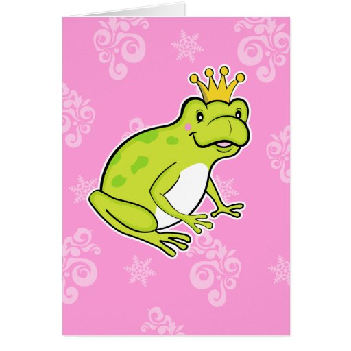 Carte de note de grenouille