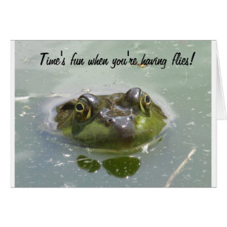 Carte de note de grenouille d étang
