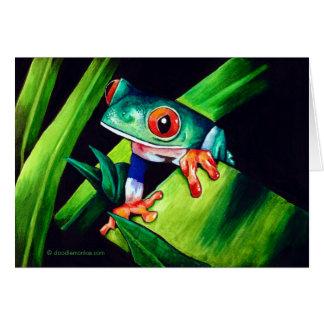 Carte de note de grenouille d'arbre
