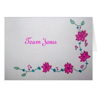 Carte de note de Jésus d'équipe