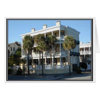 Carte de note de maison de batterie de Charleston