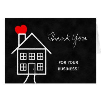 Carte de note de Merci d agent immobilier