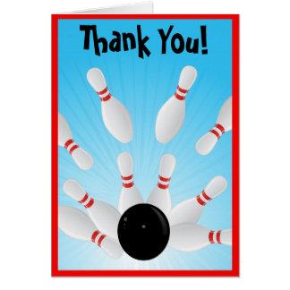 Carte de note de Merci de bowling