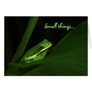 Carte de note de Merci de grenouille d'arbre