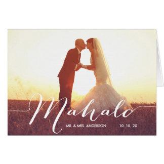Carte de note de Merci de mariage de photo de