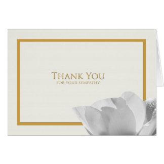 Carte de note de Merci de sympathie -- Tulipe
