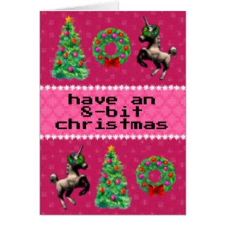 "carte de note de vacances ""de Noël à 8 bits"""