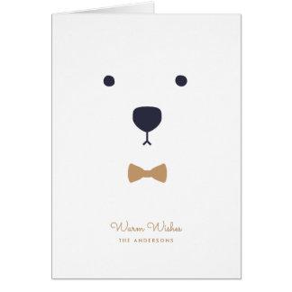 Carte de note d'ours blanc