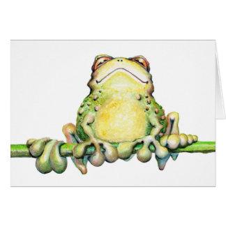 """Carte de note fabuleuse de grenouille - 5,6"""" x 4"""""""