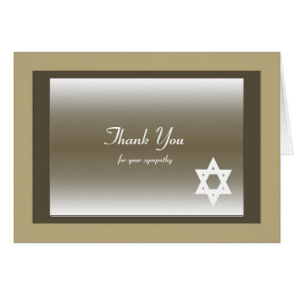 Carte de note juive classique de Merci de