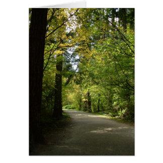 Carte de note - le Central Park de Burnaby au prin