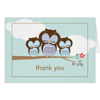 Carte de note mignonne de Merci de bébés de jumeau