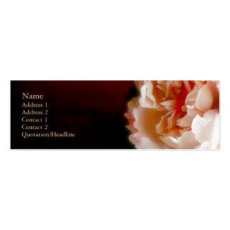 Carte de profil de pivoine cartes de visite personnelles