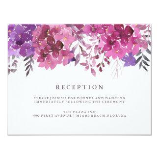 Carte de réception de Boho Botanicals Carton D'invitation 10,79 Cm X 13,97 Cm