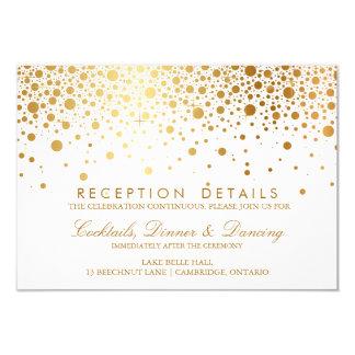 Carte de réception de mariage de confettis de carton d'invitation 8,89 cm x 12,70 cm