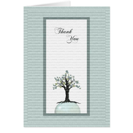 Carte de remerciements - arbre de croissance