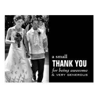 Carte de remerciements bon marché de mariage - cartes postales
