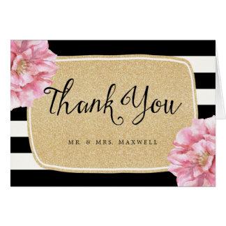 Carte de remerciements chic floral de