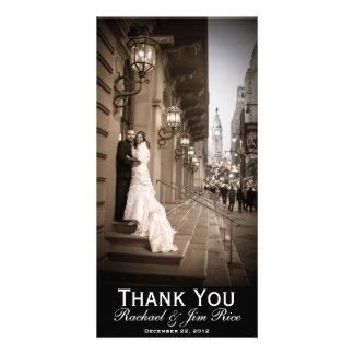 Carte de remerciements classique cartes de vœux avec photo