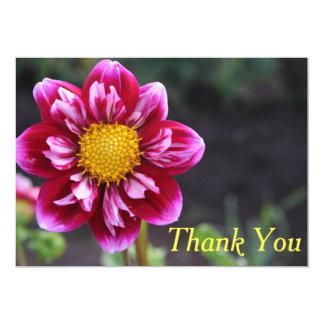 Carte de remerciements : Dahlia de Fuschia Carton D'invitation 12,7 Cm X 17,78 Cm