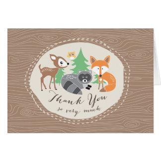 Carte de remerciements d'amis de région boisée