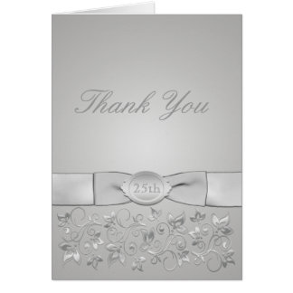 Carte de remerciements d'anniversaire de noces