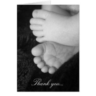 Carte de remerciements de baby shower