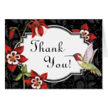 Carte de remerciements de colibri de Columbine