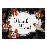 Carte de remerciements de colibri de Columbine dan