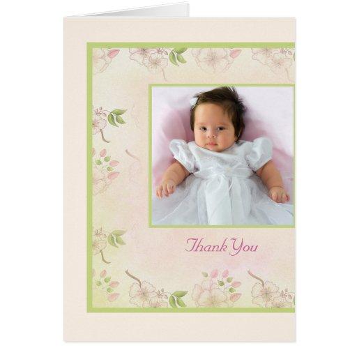Carte de remerciements de photo de fleurs de ceris