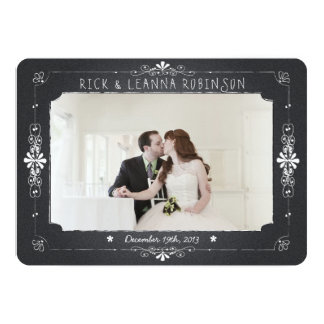 Carte de remerciements de photo de mariage de pot carton d'invitation  12,7 cm x 17,78 cm