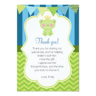 Carte de remerciements de prince Frog