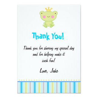 Carte de remerciements de prince Frog Carton D'invitation 12,7 Cm X 17,78 Cm