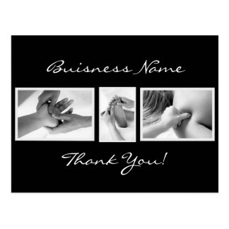 Carte de remerciements de thérapie de massage carte postale
