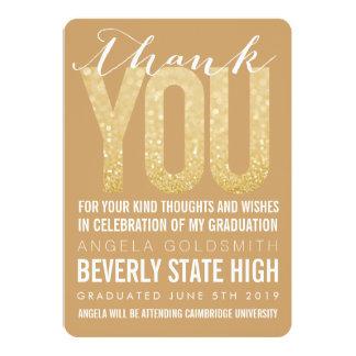 Carte de remerciements d'obtention du diplôme de carton d'invitation  12,7 cm x 17,78 cm