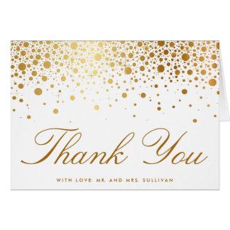 Carte de remerciements élégant de confettis de