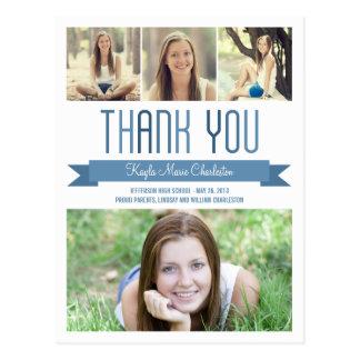 Carte de remerciements fier d'obtention du diplôme cartes postales