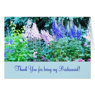 Carte de remerciements floral de jardin anglais