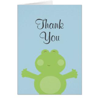 Carte de remerciements mignon de grenouille