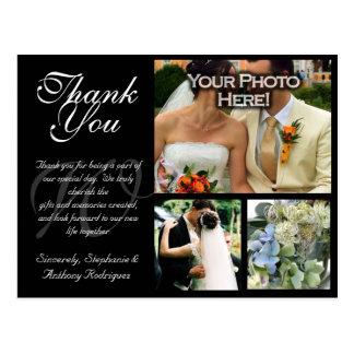 Carte de remerciements personnalisable de mariage  cartes postales