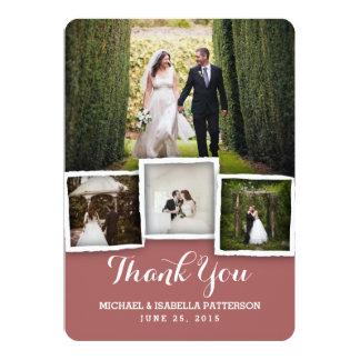 Carte de remerciements vintage de photo de mariage carton d'invitation  12,7 cm x 17,78 cm