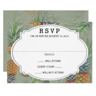 Carte- de réponse de mariage de vert sauge carton d'invitation 8,89 cm x 12,70 cm