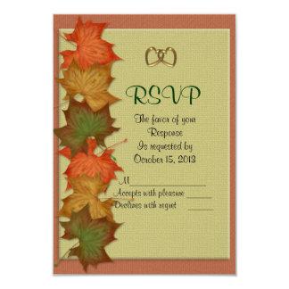 Carte de réponse du mariage de automne RSVP Carton D'invitation 8,89 Cm X 12,70 Cm