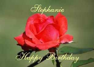 Cadeaux Joyeux Anniversaire Stephanie Zazzle Ca