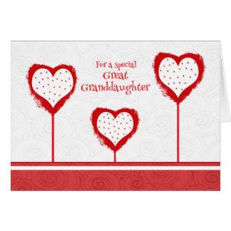 Carte de Saint-Valentin d'arrière-petite-fille
