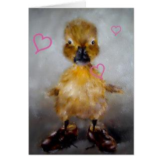 Carte de Saint-Valentin de canard de bébé